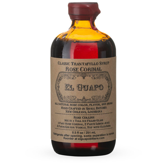 El Guapo Classic Greek Rose Cordial Cocktail Syrup - 8.5 oz