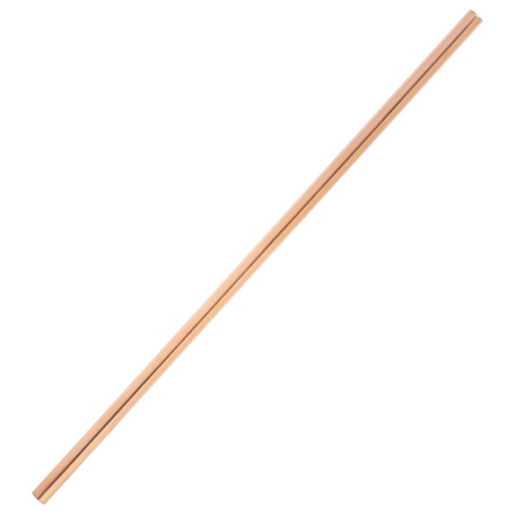 "Behind The Bar�� Rose Gold Straight Stainless Steel Drinking Straw - 8.5""L"