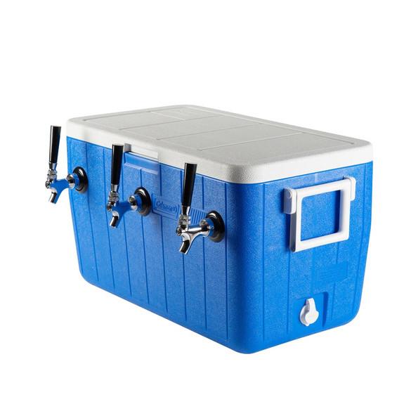 Three Faucet Jockey Box - 50' Coils - Faucet Hardware Kit