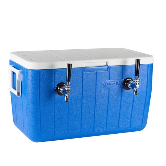 Double Faucet Jockey Box - 50' Coils - Faucet Hardware Kit