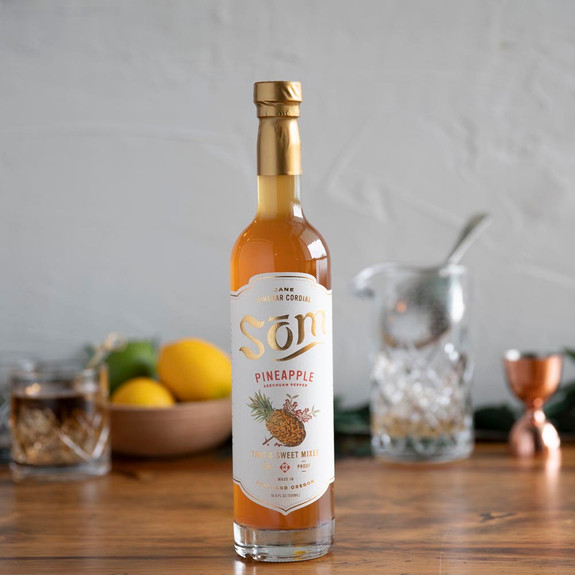 Som Cane Vinegar Cordial Cocktail Mixer - Pineapple Szechuan Pepper - 16.9 oz