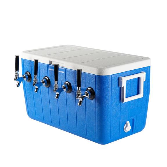 Four Faucet Jockey Box - 50' Coils - Faucet Hardware Kit