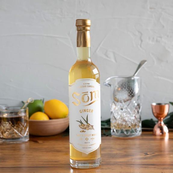 Som Cane Vinegar Cordial Cocktail Mixer - Ginger - 16.9 oz