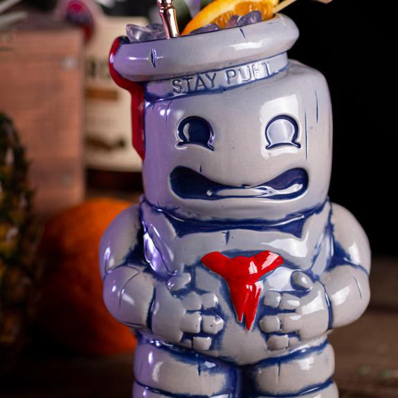 Mondo Ghostbusters Stay Puft Marshmallow Man Handmade Ceramic Tiki Mug - 36 oz