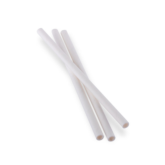 "Aardvark Eco-Friendly Paper Cocktail Straws - White - 5.75""L - Box of 875 Straws"