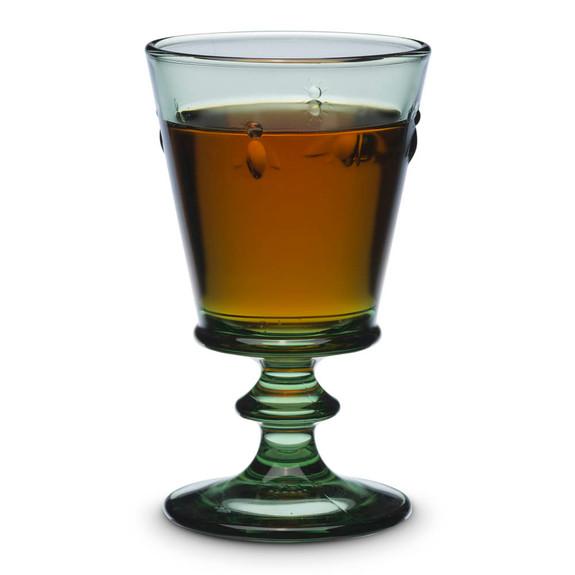 La Rochere Napoleon Bee Stemmed Wine & Cocktail Glass - 8 oz - Provence Green