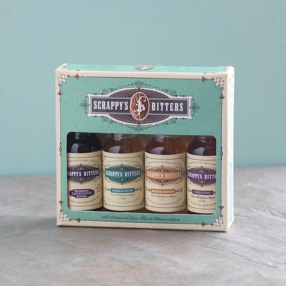 Scrappy's Cocktail Bitters Sampler 4 Pack - The New Classics - Lavender, Cardamom, Black Lemon & Orleans