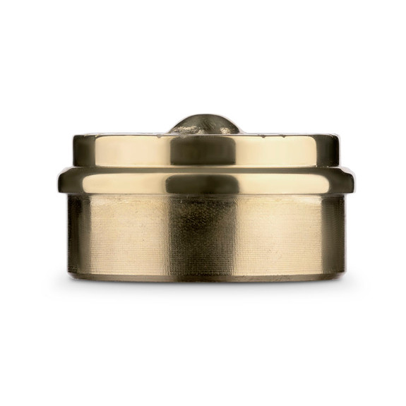 "Flush Decorative End Cap - Polished Brass - 2"" OD"