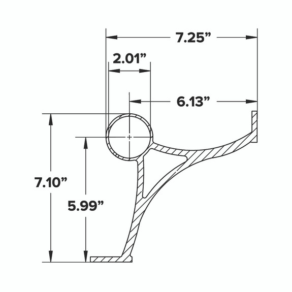 Combination Foot Rail Bracket - Brushed Stainless Steel -2-inch OD