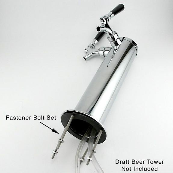 Fastener Bolt Set on Draft Beer Tower