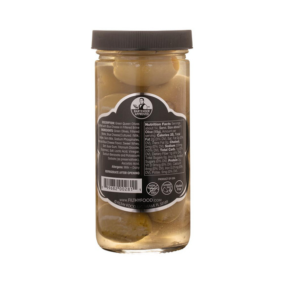 Filthy Blue Cheese Stuffed Olives - 8 oz Jar