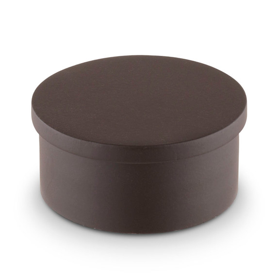 "Flush Flat End Cap - Oil Rubbed Bronze - 2"" OD"