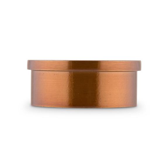 "Flush Flat End Cap - Sunset Copper - 2"" OD"
