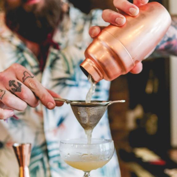 Viski Professional Heavyweight Cocktail Shaker - 17 oz - Copper Plated