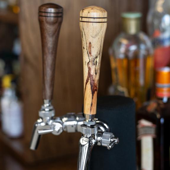 """KegWorks 6"""" Wood Beer Tap Handle - Spalted Tamarind"""