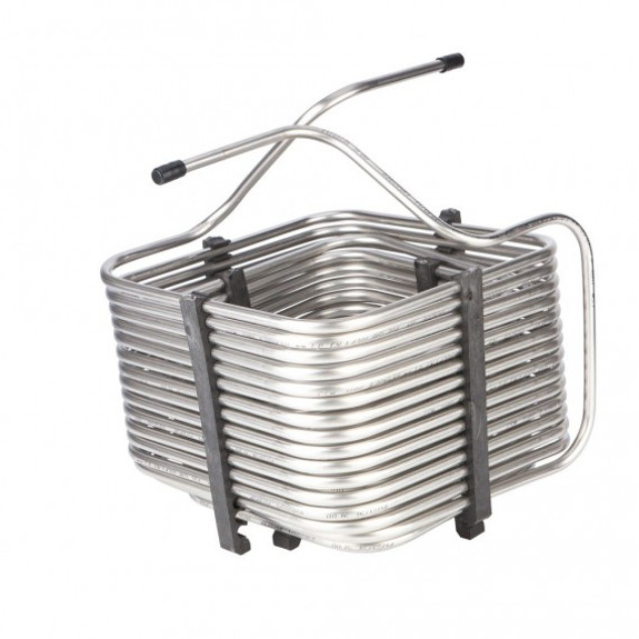 Square Jockey Box Coil - 70' - Stainless Steel - High Efficiency