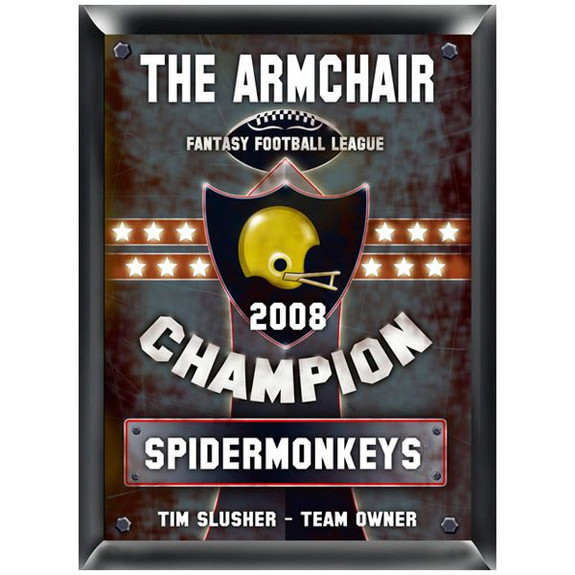 Fantasy Football Champion Personalized Plaque