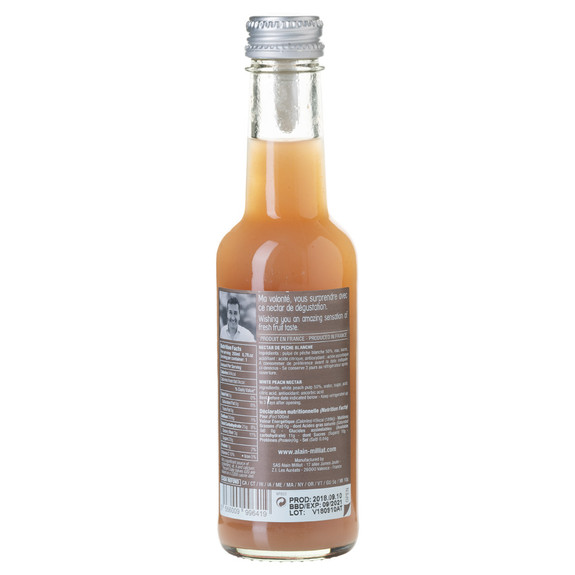 Alain Milliat Traditional Home-Style French White Peach Nectar - 6.8 oz