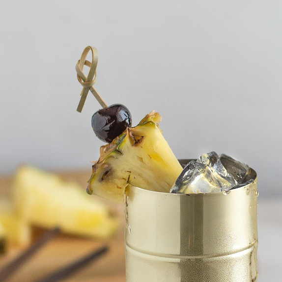 """Bamboo Knot Cocktail & Hors' D'oeuvre Picks - Set of 100 - 4""""L"""