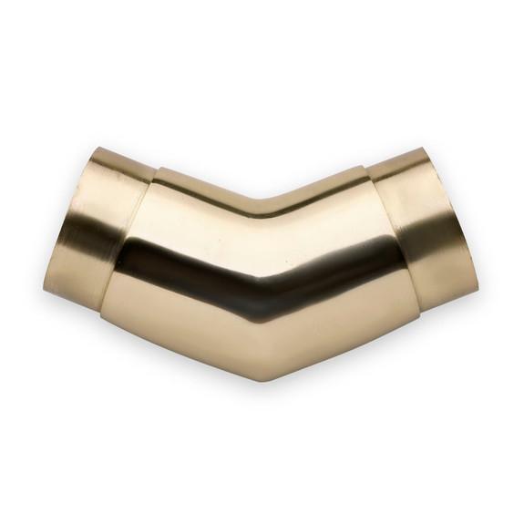 "Flush Angle Fitting 135(45) Degree - Polished Brass - 2"" OD"