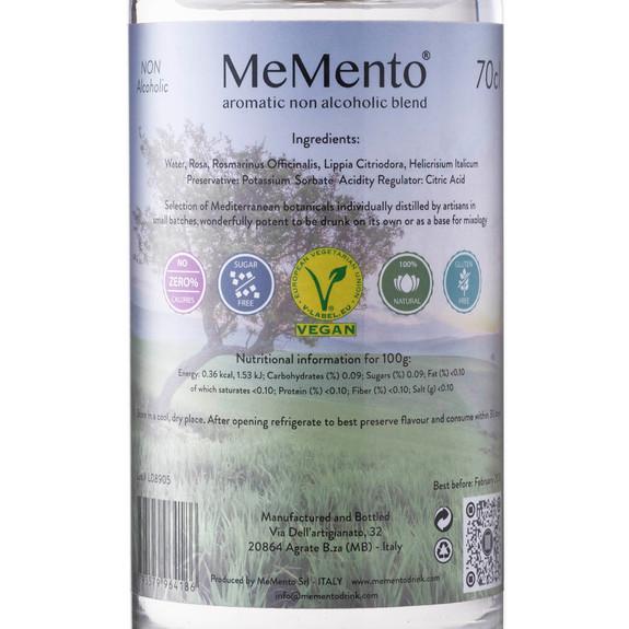 MeMento Aromatic Non-Alcoholic Distilled Blend Spirit Alternative - 700ml - Original