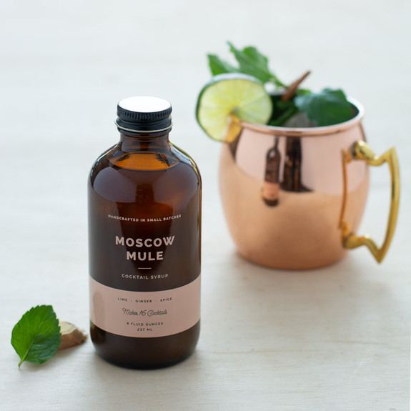 W&P Moscow Mule Craft Cocktail Mixer Syrup - 8 oz
