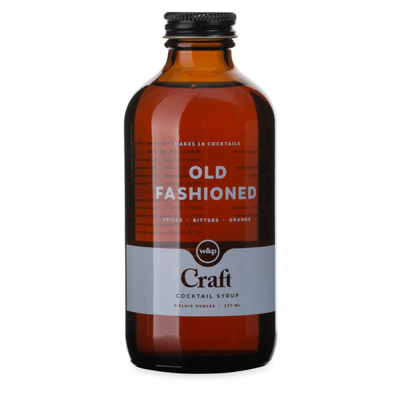 W&P Old Fashioned Craft Cocktail Mixer Syrup - 8 oz