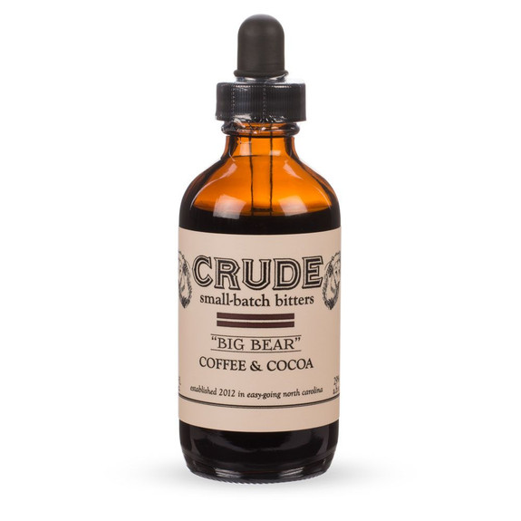Crude Big Bear Coffee & Cocoa Small Batch Cocktail Bitters - 4 oz