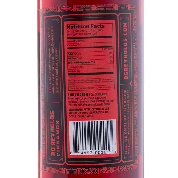 BG Reynolds Cinnamon Craft Cocktail Tropical Syrup