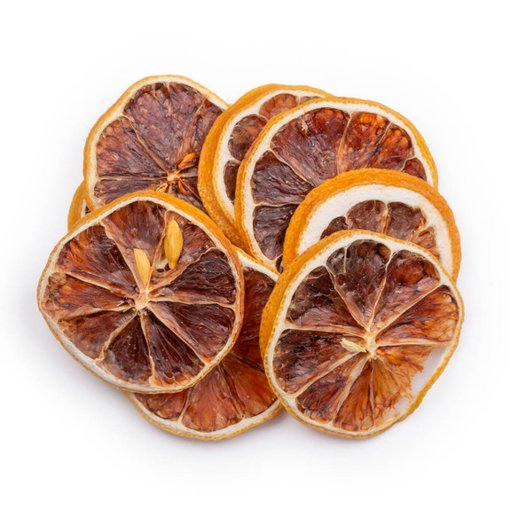 Blue Henry Dehydrated Lemons Cocktail Garnish - Dried Lemon Wheels - 3 oz Pouch