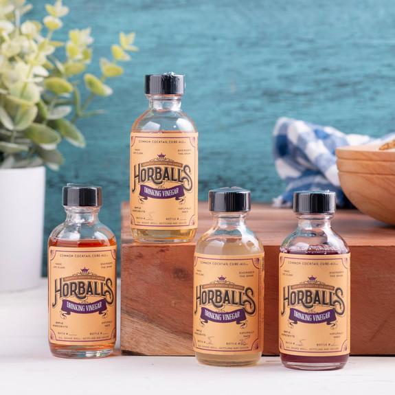 Horball's Drinking Vinegar Cocktail Shrub Sample Pack - 2 oz - Set of 4