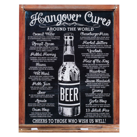 Hangover Cures Metal Bar Sign
