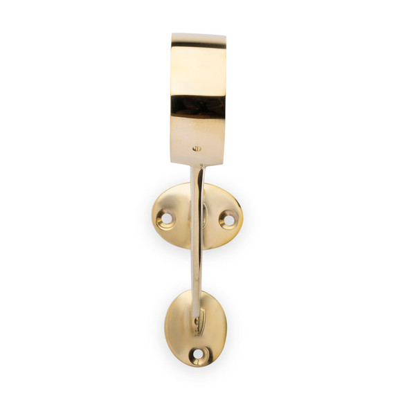 "Bar Mount Foot Rail Bracket - Polished Brass - 2"" OD"