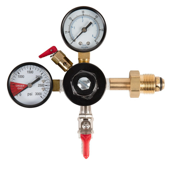 Double gauge nitrogen regulator