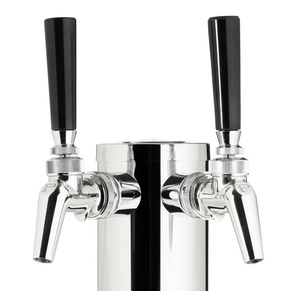 "Draft Beer Tower - Stainless Steel - 3"" Column - 2 Perlick 630SS Faucets"