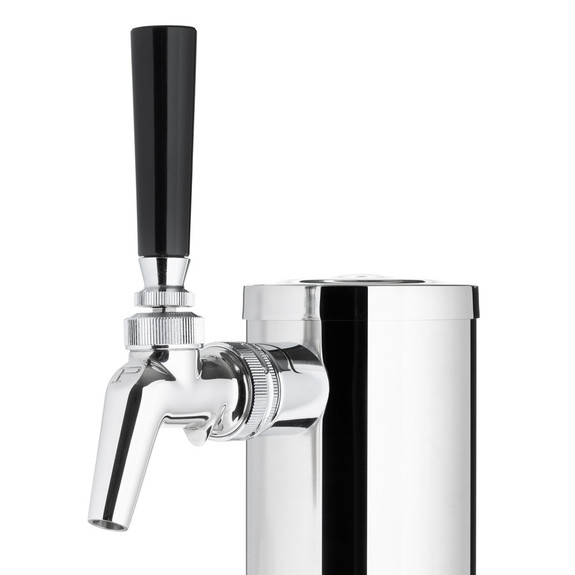 """Draft Beer Tower - Stainless Steel - 3"""" Column - 1 Perlick 630SS Faucet"""