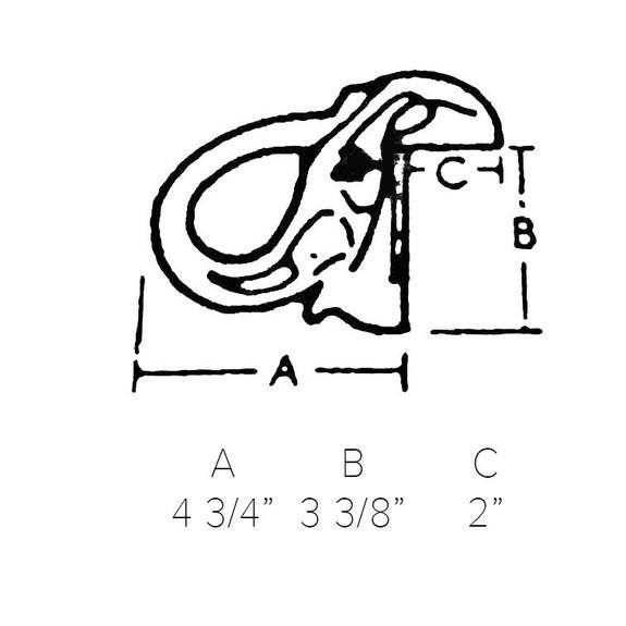 Elephant Head Bar Rail Bracket - Polished Brass - 2 inch OD