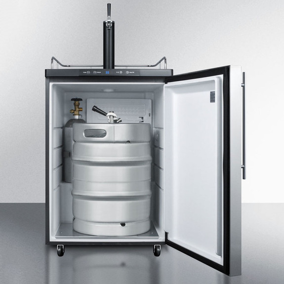 Summit Under Counter Kegerator- Single Faucet- Stainless Steel