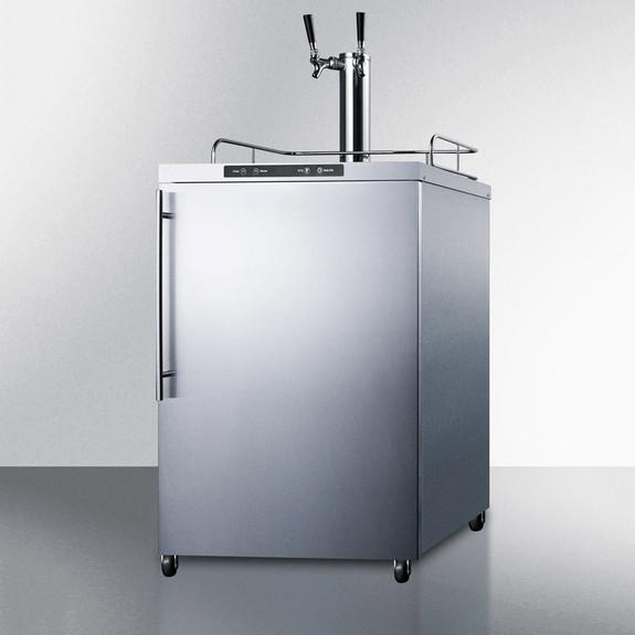 Summit Kegerator - 2 Faucet - Stainless Steel - Outdoor