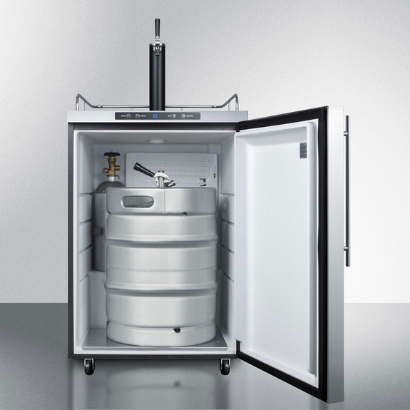 Summit Kegerator - 1 Faucet - Stainless Steel - Outdoor