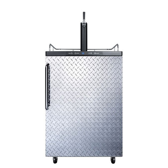 Summit Kegerator - 1 Faucet - Diamond Plate - Outdoor