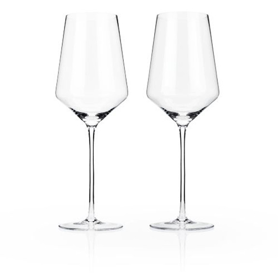 Viski Raye Crystal Bordeaux Wine Glasses - 16 oz - Set of 2