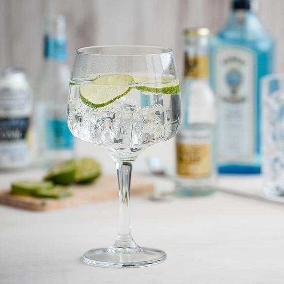 Urban Bar Gin Mixer Stemmed Cocktail Glasses - 21 oz - Set of 6