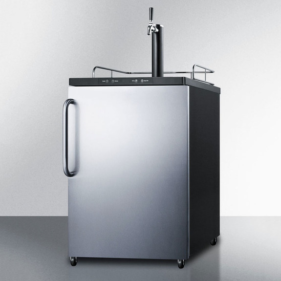 Summit Kegerator - 1 Faucet - Stainless Steel
