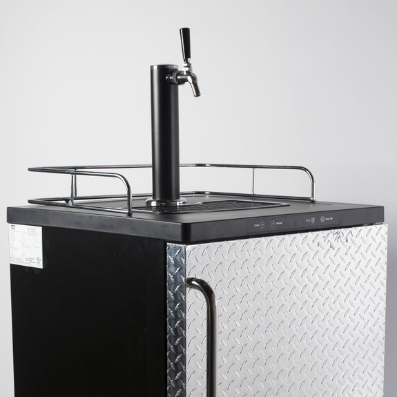 Summit Kegerator - 1 Faucet - Diamond Plate