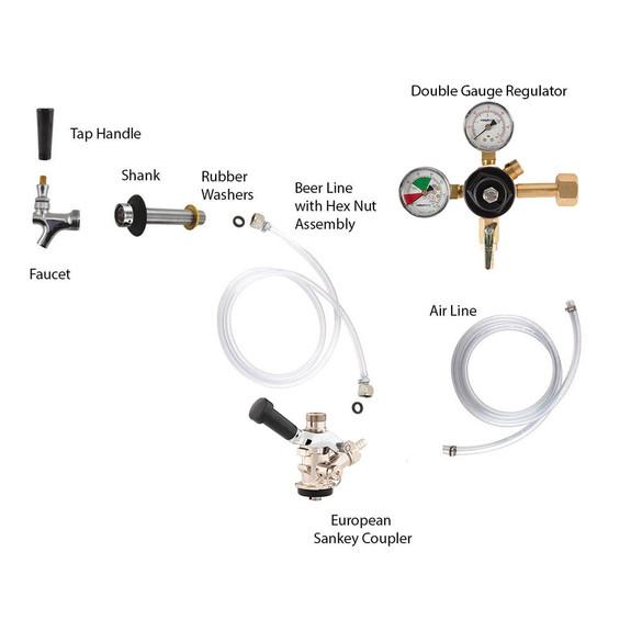Standard Kegerator Conversion Kit - European Sankey S System - No CO2 Tank