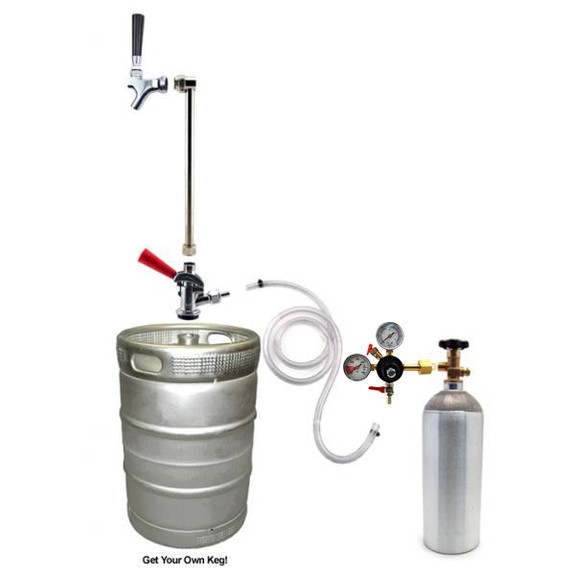 Rod & Faucet System with 5 lb CO2 Tank
