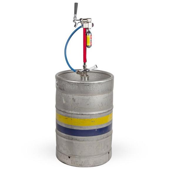 Leland CO2 Picnic Beer Tap on Keg