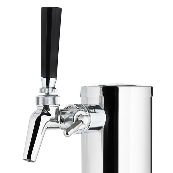 "Draft Beer Tower - Stainless Steel - 3"" Column - 1 Perlick 650SS Faucet"