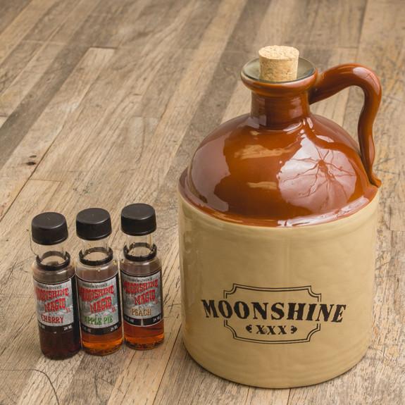 Moonshine Making Kit with Jug & Flavorings
